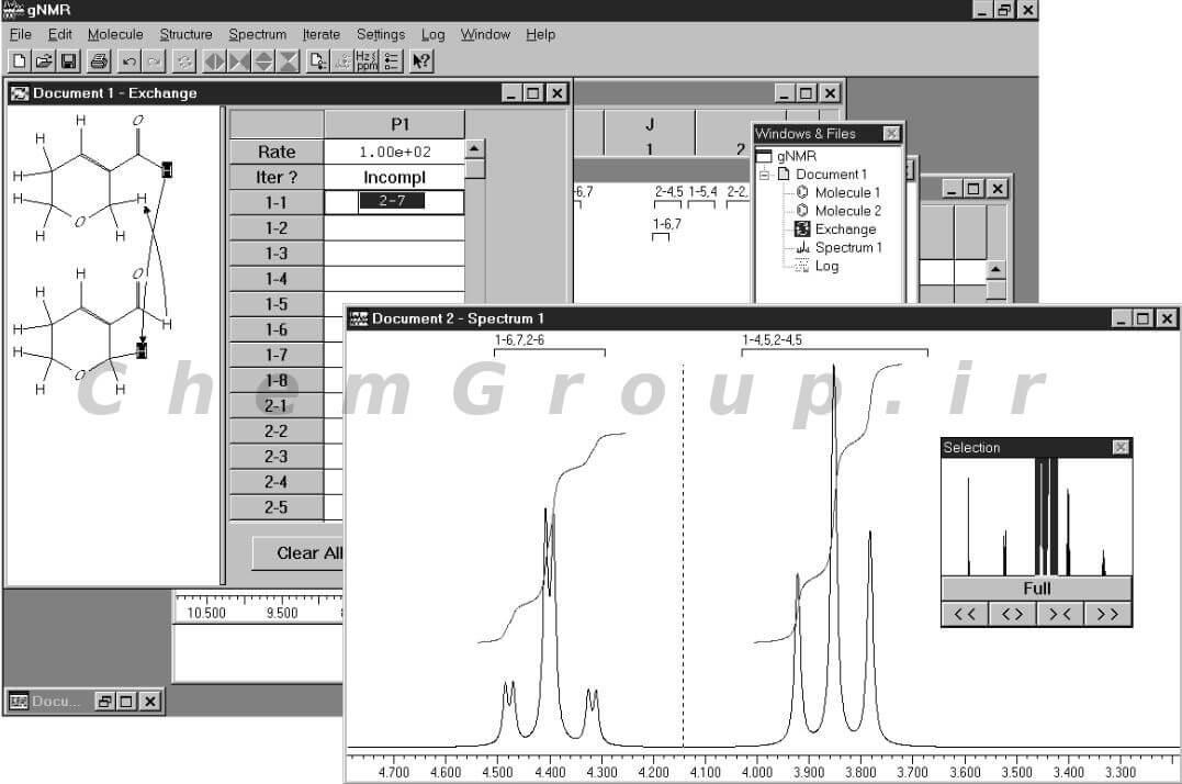 رسم طیف NMR ترکیب آلی به کمک نرم افزار GNMR