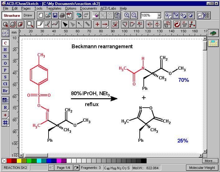 نرم افزار ترسیم سه بعدی ترکیبات شیمی ACD ChemSketch 12