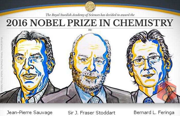برندگان جایزه نوبل شیمی در سال ۲۰۱۶