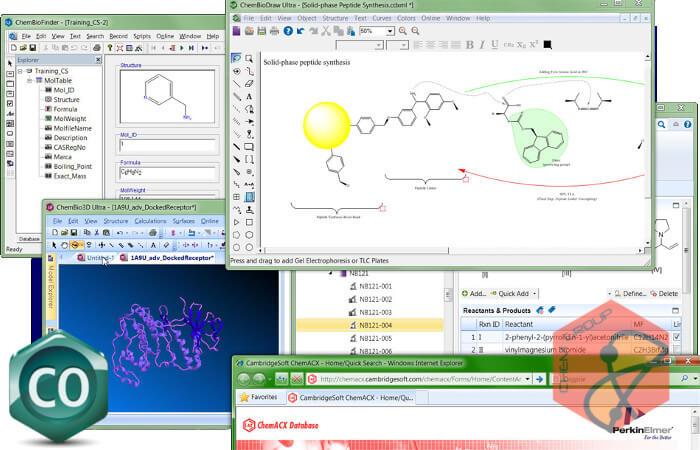 نرم افزار طراحی انواع ساختار های مولکولی و شیمیایی ChemBioOffice