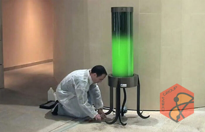 لامپ زندهای که دی اکسید کربن هوا را میبلعد
