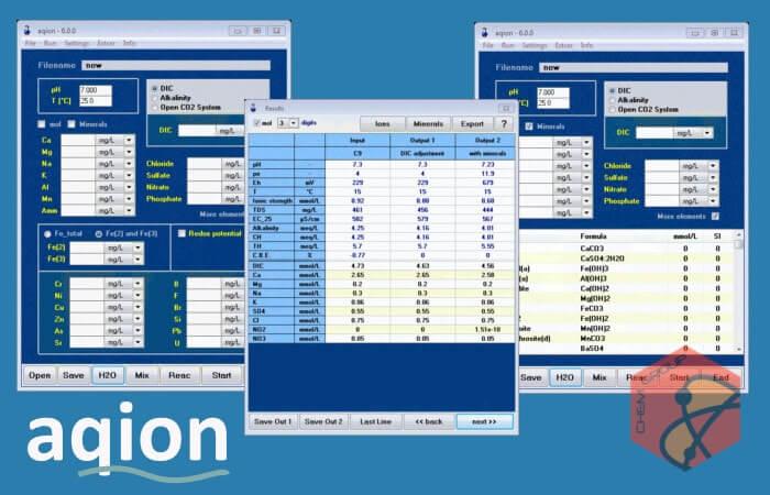 نرم افزار محاسبات مربوط به محلولهای آبی و محلول سازی aqion