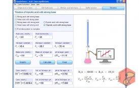 نرم افزار محاسبه تعادل شیمیایی اسید-باز Acid-base equilibria