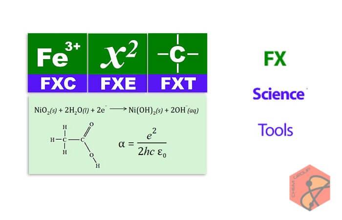 نرم افزار تایپ آسان و سریع معادلات و ساختار های شیمیایی FX Science Tools