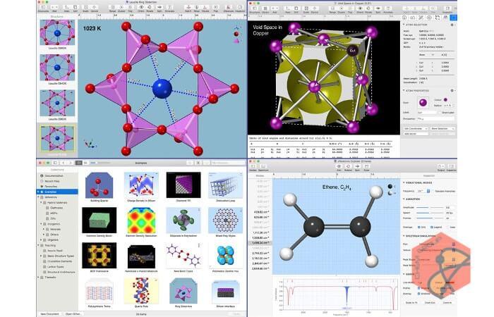 نرم افزار شبیه سازی ساختار مولکولی مواد CrystalMaker X